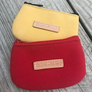 Coin Pouches Dooney & Bourke Red and Yellow